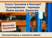 Автогрузоперевозки   грузчики,  вывоз мусора Вологда. - foto 0
